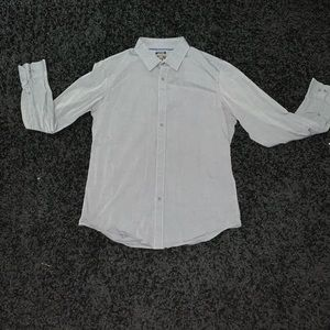 Gray slim fit button down
